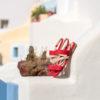 Sandale corail vegan plate bi-matière et sa bande transversale