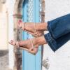 Sandale blush vegan plate et sa jolie découpe graphique