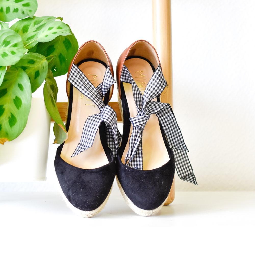 Chaussures véganes espadrilles Santorin sans cuir Minuit sur Terre collection été Eole
