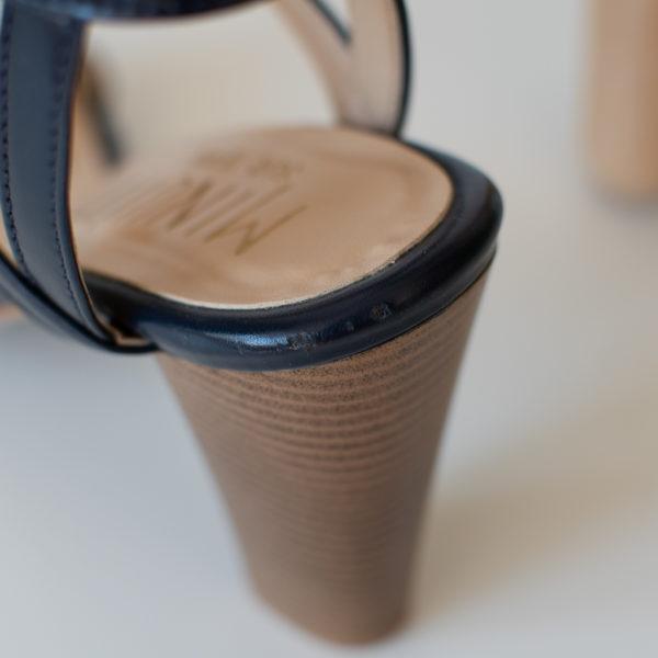 Sandales éthiques et vegan d'occasion Fuji Bleu Minuit l'Aurore par Minuit sur Terre