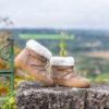 Bottines fourrées femme beiges vegan écologiques d'occasion Yéti l'Aurore par Minuit sur Terre