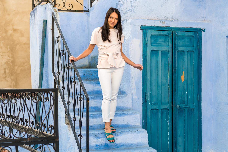 Sandales plates vegan bleu vert écologiques pour femme Muscade Minuit sur Terre