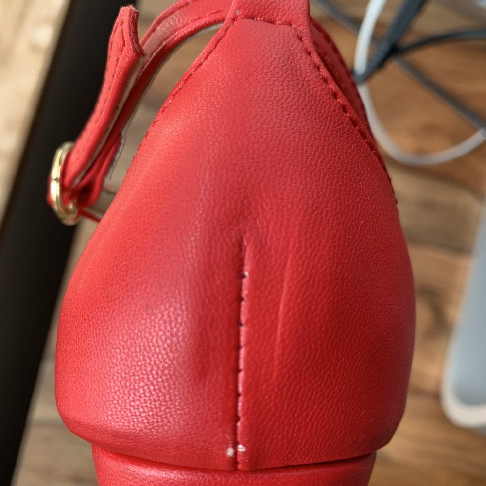 Sandales à talons rouges vegan d'occasion l'Aurore