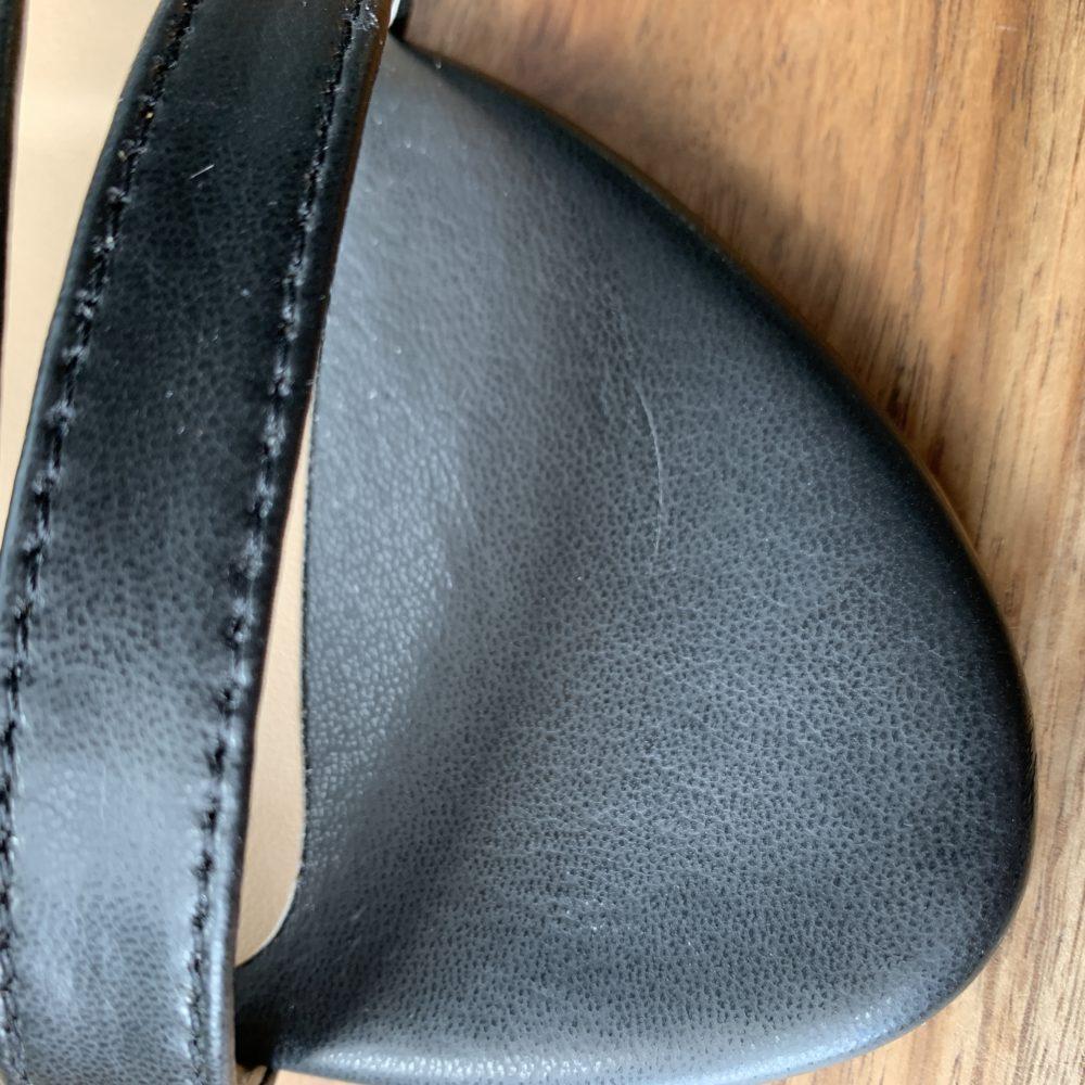 Sandales à talons noires vegan écologiques d'occasion l'Aurore