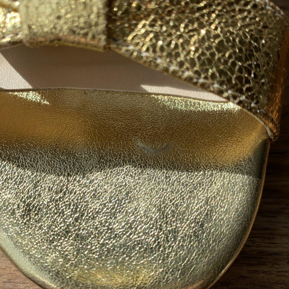 Sandales à talons dorées or vegan écologiques Médina